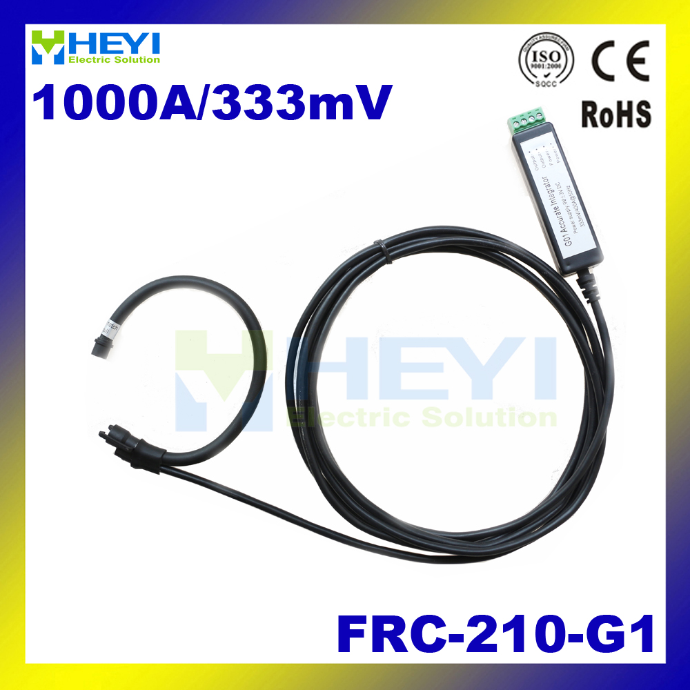 цена на ac current measurement flexible rogowski coil Input : 1~1000A Output : 333mV FRC-210-G1 Mini rogowski probe