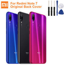 XIAOMI Original Glass Battery Rear Case For Xiaomi Redmi Note 7 Note7 Back Cover Phone Backshell Cases