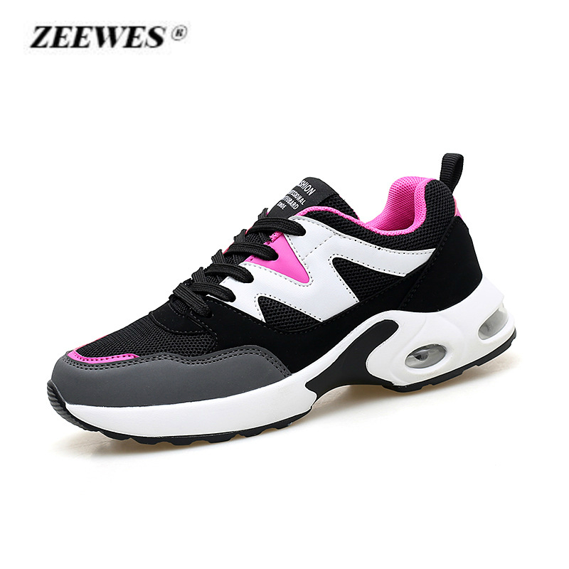 Large Size Ladies Air Cushion Shoes 2018 Summer Fashion Casual Shoes for Women Outdoor Breathable Mesh Sneakers Tenis Feminino