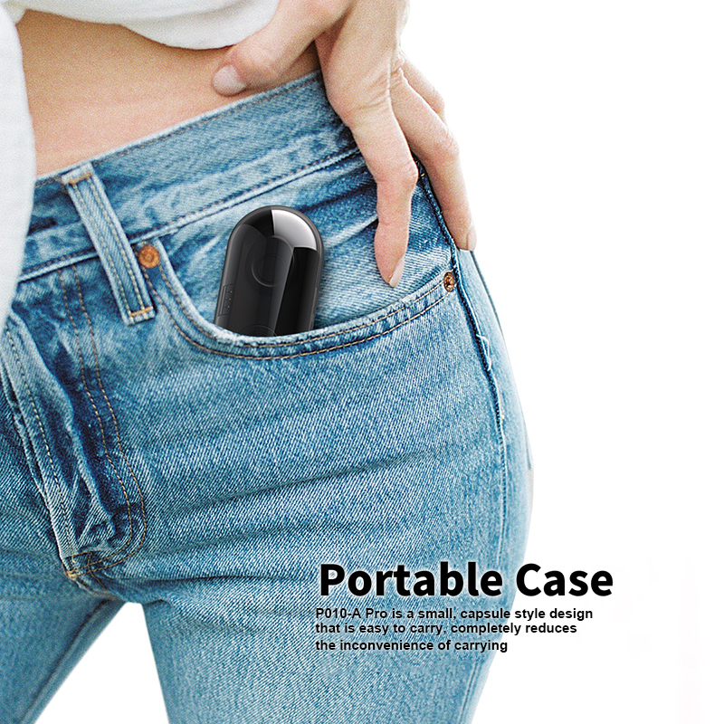 Foto of portable case Anomoibuds earphones with charging box. Anomoibuds headphones with charging box