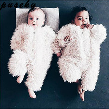 Puseky Baby Romper Boys Girls Fall Winter clothes Baby Warm Fleece Rompers Thickening Coveralls Baby Romper Newborn Jumpsuits