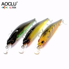 Купить с кэшбэком AOCLU 3pcs/lot jerkbait lures wobblers 13.5cm 18.5g Hard Bait Minnow Crank fishing lure VMC hooks 3 colors lures free shipping