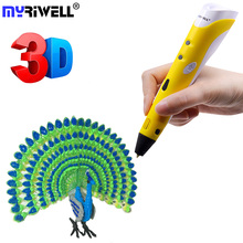 Myriwell Magic Pen Best Birthday Gifts For Kids 3d Drawing Pen Diy Boligrafos Creativo Scribble Pen Filaments 3D Printing Pen цены онлайн