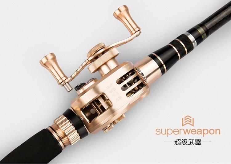 Новый пустотелая Удочка superweapon 46 т высококарбоновый стержень 3,6 7,2 м через линию стержень с алюминиевая Рыболовная катушка быстрая закрываю