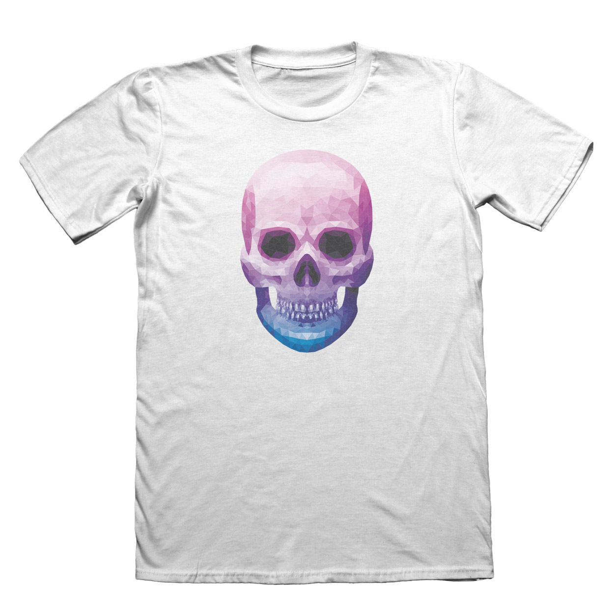 Geometric Skull T-Shirt - Fathers Day Christmas Gift #7504