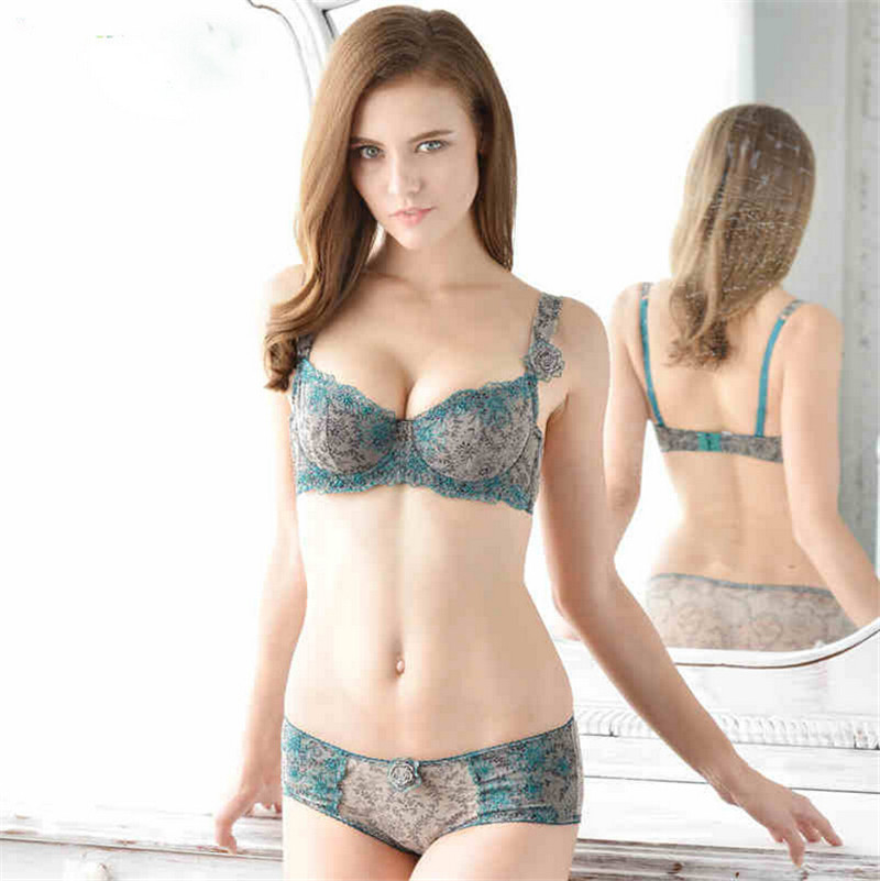 36f6aa6a716cc Elegant Women Thin Embroidery Cotton Bra With Rose Brooch Slim Breathable  Lacy Unlined Lingeries Pecas Intimas Vintage Underwear