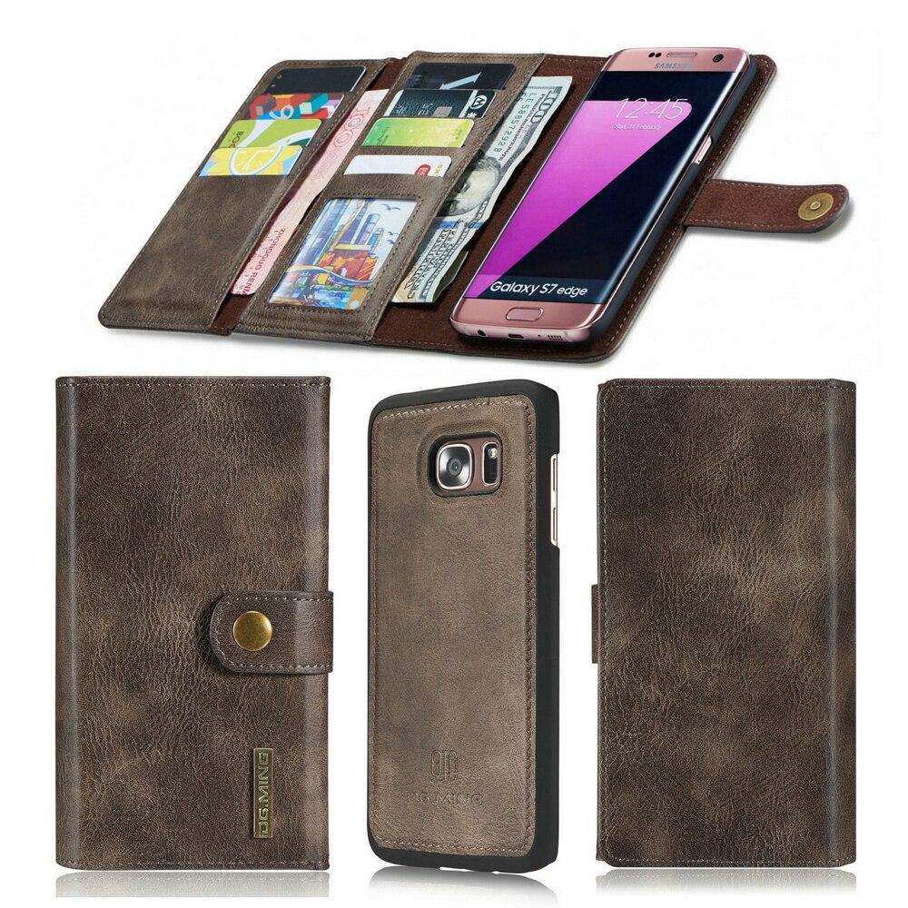 imágenes para Para Samsung Galaxy Caso Billetera de Cuero de Lujo Retro S7 y Cubierta Samsung Galaxy S7 Borde Caso Con Titular de la Tarjeta magnética Coque