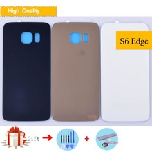 hot deal buy for samsung galaxy s6 edge g925 g925f g925t housing battery cover back cover case rear door chassis shell s6edge replacement