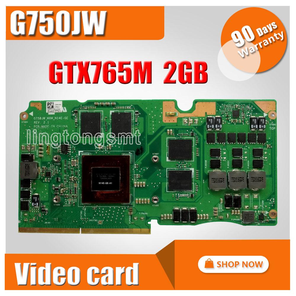 For Asus ROG G750J laptop card G750JW N14E-GE-A1 GeForce GTX765M GTX 765M 2GB VGA Graphic card Video card laptop battery for asus a42 g750 g750j g750jh g750jm g750js g750jw g750jx g750jz 15v 5900mah 88wh