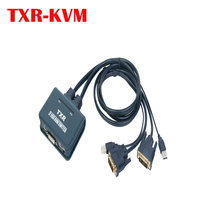 2 port all in DVI KVM switch with USB mouse and keyboard sharing desktop controller switch and keyboard hotkey switch