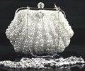 Preço de atacado Saco das Mulheres Pérolas de Imitação Sacos de Noite Handmade Shell-Shaped Frisada Clutch Festa Floral Purse Handbag NO05793