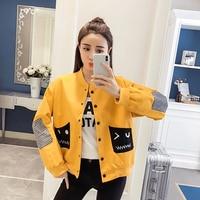 Black Baseball Jacket Women Autumn 2018 Harajuku Plus Size Coat Streetwear Oversized Bomber Jacket Korean Hip Hop Clothes 50B057