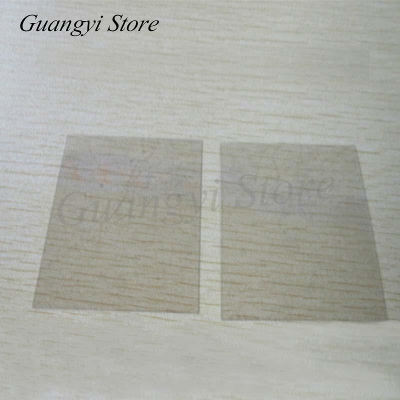 10pcs Transparent Mica Sheet 50*50*0.1mm Natural Non-porous Mica Gasket High Temperature Resistant Insulating Mica Sheet