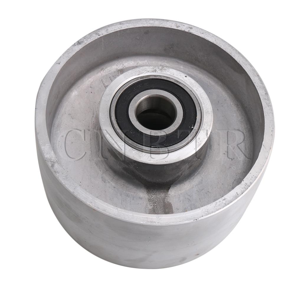 CNBTR 125mm Diameter Silver Aluminum Belt Grinder Tracking Wheel Passive Wheel With Bearing For Belt Sander