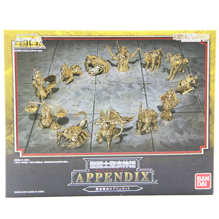 12pcs/set Anime Saint Seiya Action Figure Toys Golden Aries Taurus Gemini 1/9 scale painted figure Dolls Brinquedos Model Toy