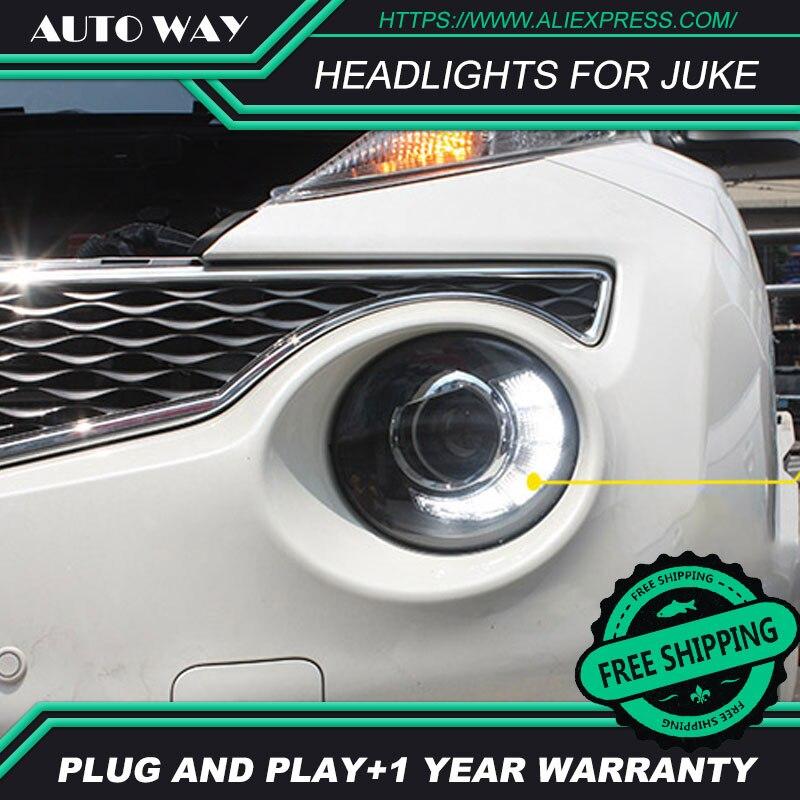 Car Styling Head Lamp case for nissan juke 2013-2018 Headlights juke LED Headlight H7 D2H Hid Angel Eye Bi Xenon Beam auto part style led head lamp for porsche 997 series led headlights for 997 drl h7 hid bi xenon lens angel eye low beam