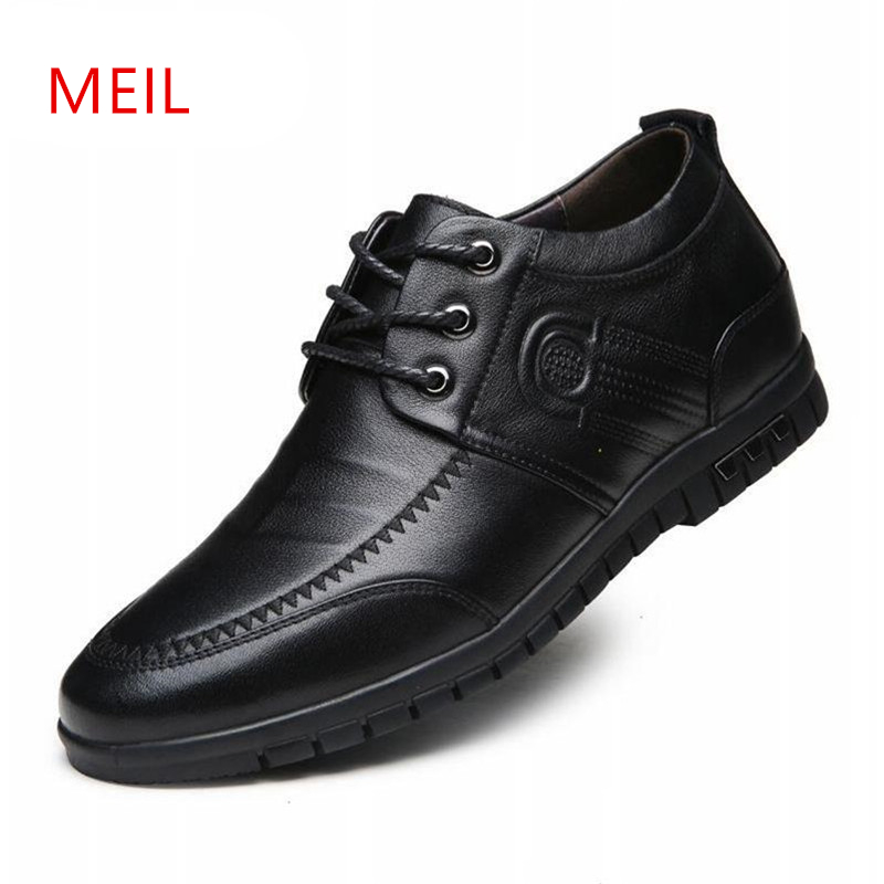 Casual Genuine Leather Shoes Men Invisibly 6CM Elevator Shoes Man New Handmade Breathable Height Increasing Hidden Heels Loafer