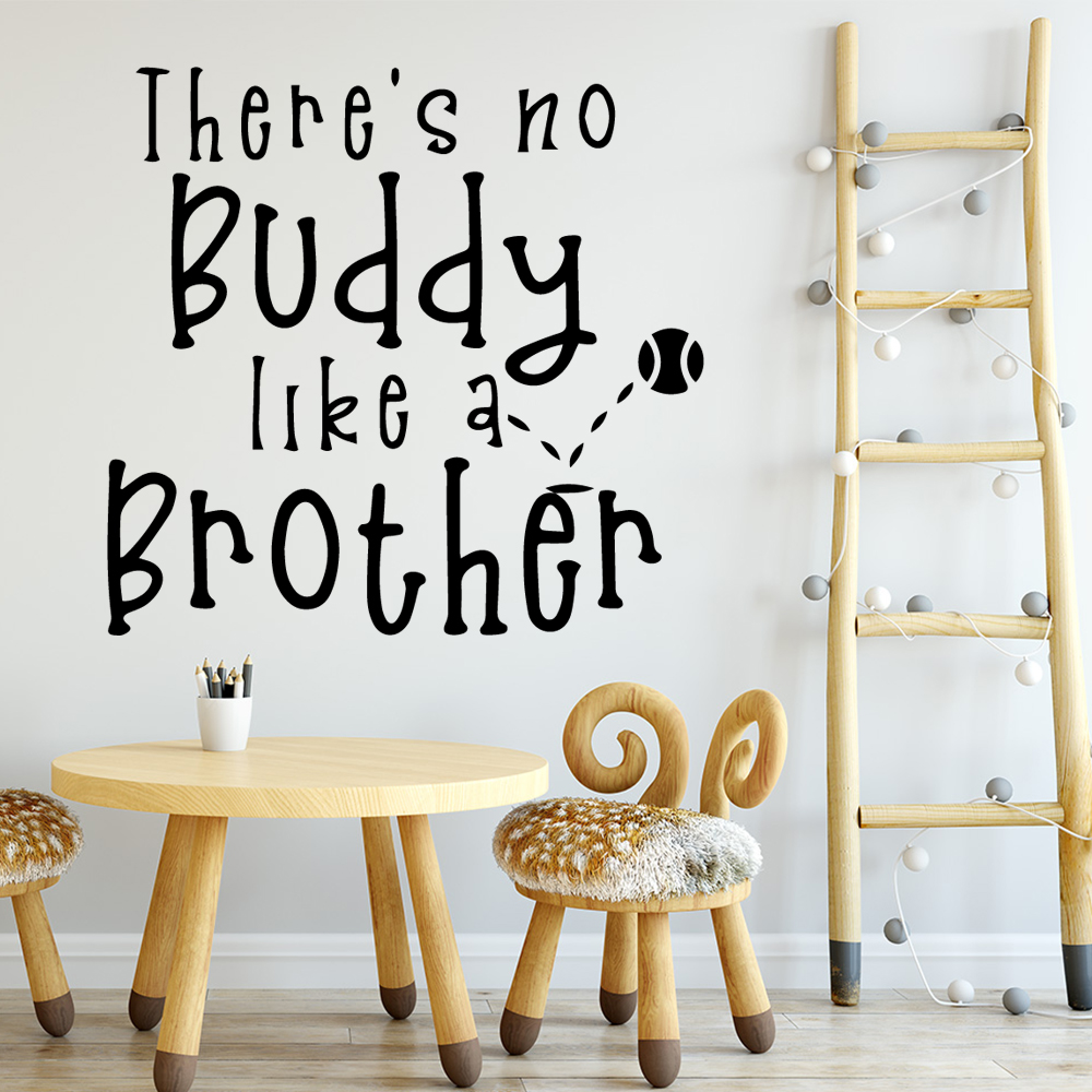 Diy Buddy Wall Mural Removable Wall Decal For Kids Room Living Room Home Decor Wall Stickers for bedroom in Wall Stickers from Home Garden