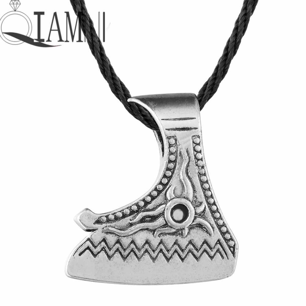 Picture of cheap viking knife - Qiamni 10pcs Antique Punk Gothic Slavic Valknut Viking Amulet Knife Axes Pagan Charm Pendant Accessories Party