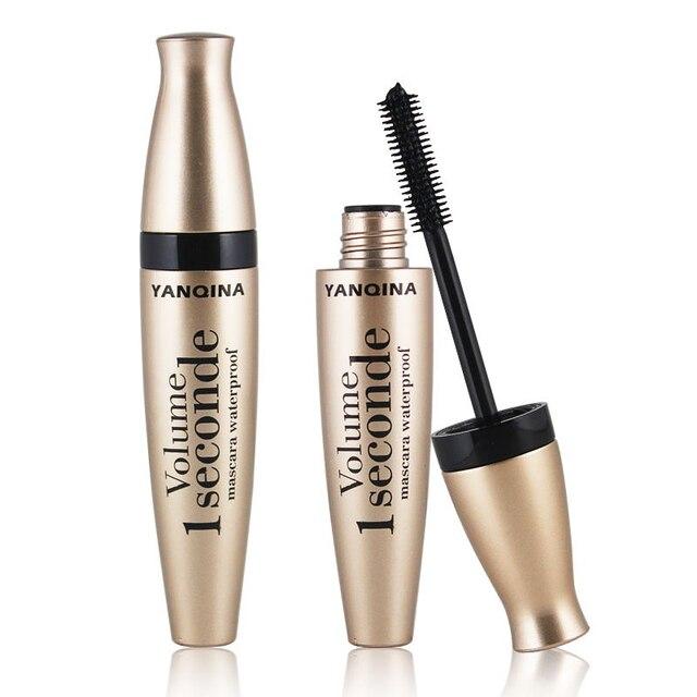 4D fiber silk mascara waterproof natural thick curl eyelash silicone brush head professional makeup mascara