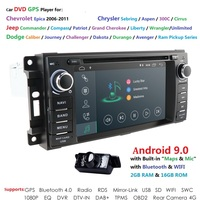 Hizpo 1 din Car Radio Android 8.1 Car DVD Player For jeep Grand Cherokee Chrysler 300c Compass/Dodge Chevrolet Epica Wrangle