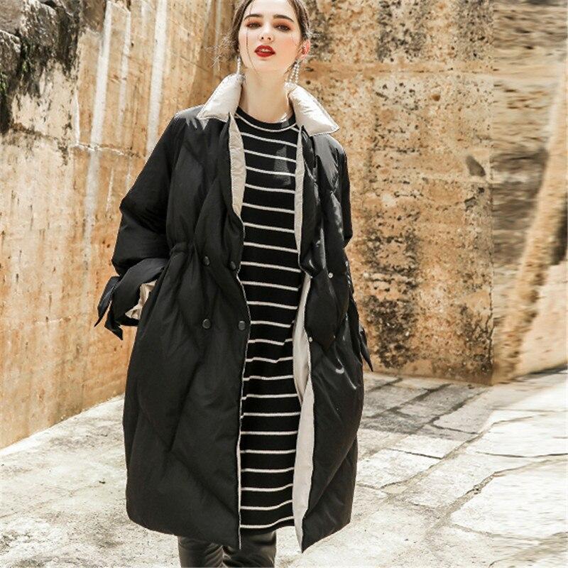 Bas Femme Rétro À Nouveau Hiver Couleur Black Occasionnel Le Zx351 Manches Mode De Femmes Longues Veste Droite Lâche Vers Solide Vêtements qSX71q