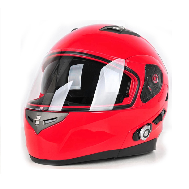 2017 Bluetooth Motorcycle Full Face font b Helmet b font Built IN BT Intercom With FM