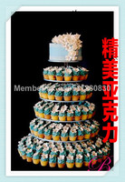 The new acrylic 6 tier cake The wedding frame A multilayer birthday cake can be customized acrylic cupcake stand decoration