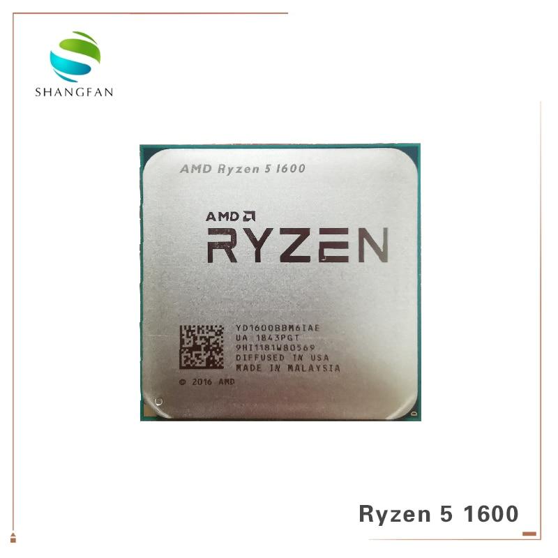 AMD Ryzen 5 1600 R5 1600 3.2 GHz Six-Core Doze Fio 65W Processador CPU Soquete YD1600BBM6IAE AM4