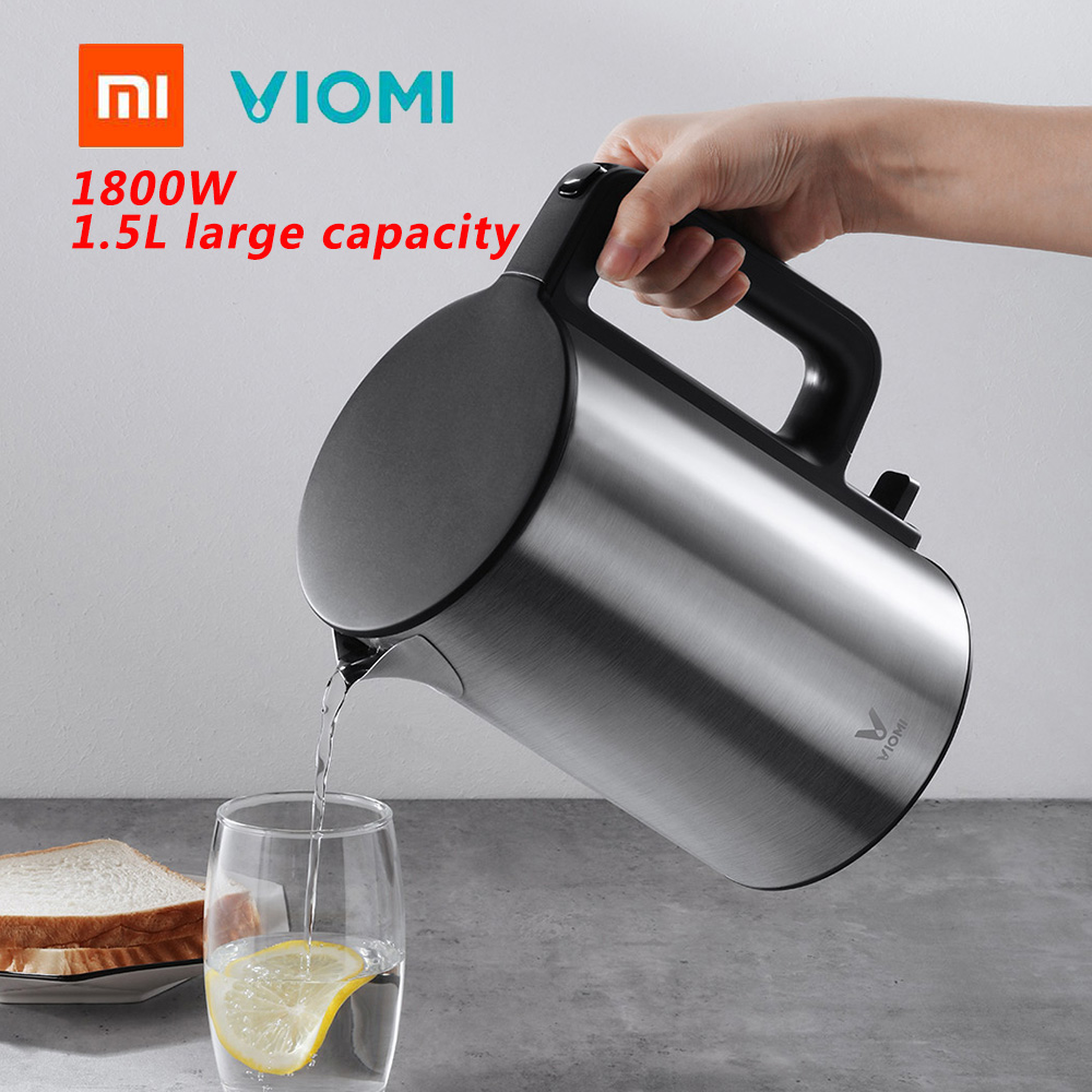 Xiaomi VIOMI 1800W 1.5L Electric Kettle Thermostat Intelligent Quick Heating Indicator Prompt Electric Kettle From Xiaomi Youpin