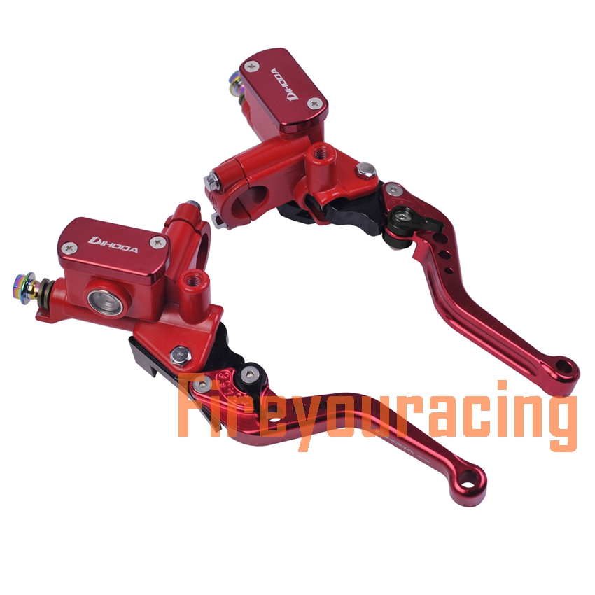 Universal motorbikes master cylinder lever brake hydraulic clutch pump motorcycle 22mm for honda vespa yamaha mxs125 Scooter universal motorcycle brake fluid reservoir clutch tank oil fluid cup for mt 09 grips yamaha fz1 kawasaki z1000 honda steed bone