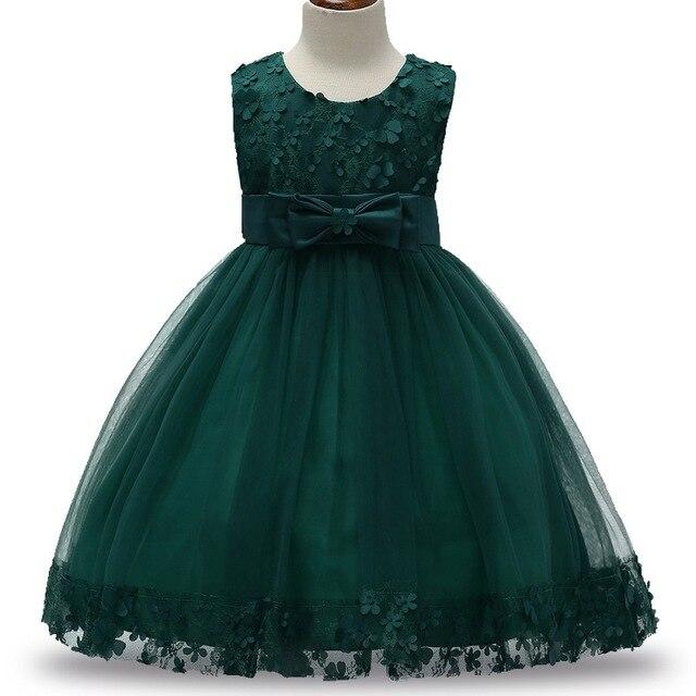 2-9 T bébé robes fête porter 2017 mode fête robe infantile princesse Deguisement avec arc enfants fête robe filles robes