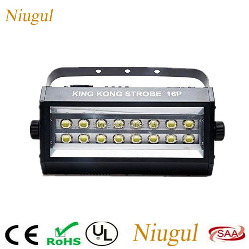 Niugul LED 400W Strobe light DMX512 SOUND control 16PCS LED Flash Lamps Party Disco DJ Bar Light Show Projector Stage Lighting fumat remote control laser stage lighting sound control disco strobe light ktv home party dj led projector light dmx stage light