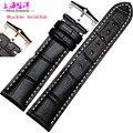 Acessórios de relógio de couro relógio com pulseira de couro para masculino PPR relógio 19 | 20 mm preto