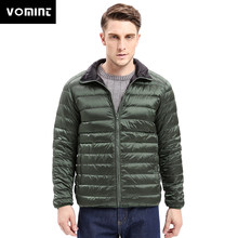 ae27c32f6 Vomint 2017 Nuevo abrigo de tela ligera para hombre 90% plumón pluma de invierno  chaqueta