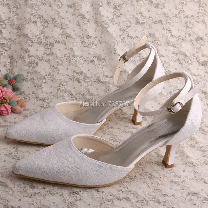 ФОТО  Italian Style Ladies Wedding White Shoes Pacem with Ankle Strap Dropship