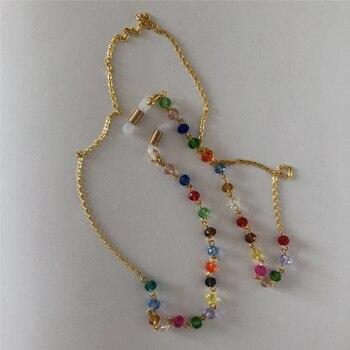 Multicolor acrílico cuentas de cristal cadena cadenas para anteojos gafas de lectura correa de gafas cordón titular cuello diadema Accesorios