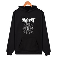 New Heavy Metal Slipknot Letter Hoodies Printed Mens Fashion Brand Slipknot Logo Hooded Sweatshirts Winter Slipknot