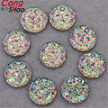 100PCS Shiny Crystal White AB Color 10mm  16mm  18mm Circle Sparkly Glitter Acrylic Rhinestones Stones Flatback decoration ZZZ1