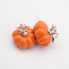 10PCS/lot Alloy Plating Halloween Pumpkin Charm Hanging Pendants Findings Jewelry Making Necklace Bracelet Accessory YZ377