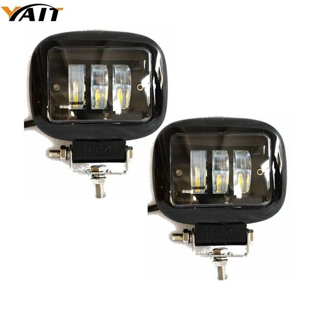 Yait 2 pcs 오프로드 4x4 4wd atv utv suv 운전 안개 램프 헤드 램프에 대 한 4.5 인치 30 w 자동차 헤드 라이트 led 작업 빛