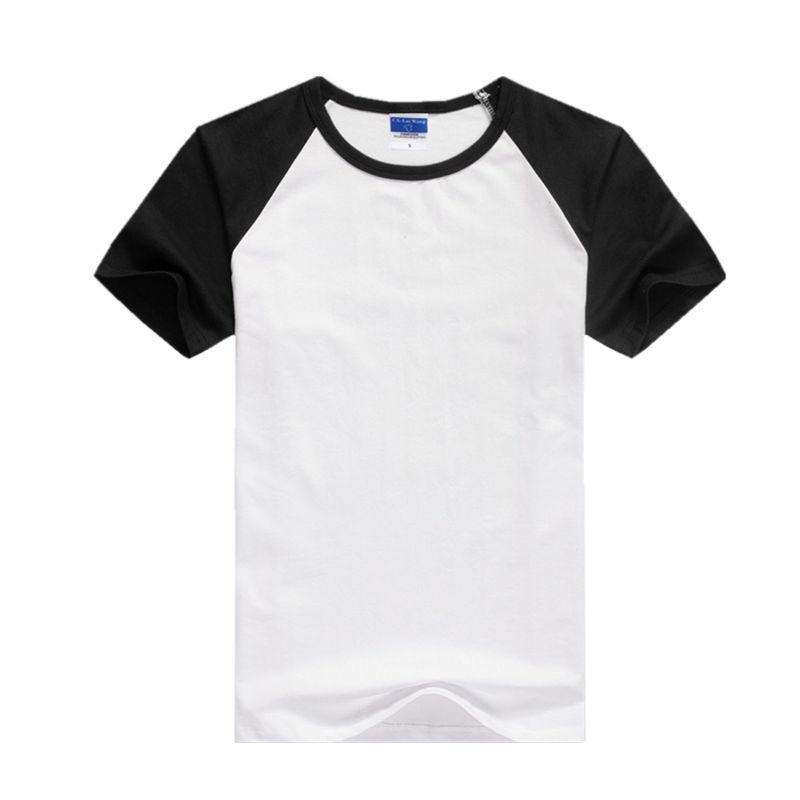 24b9ada0b 2019 летняя футболка для мужчин T рубашка с круглым воротником Хлопок s  повседневное Slim Fit реглан короткий рукав футболки топы