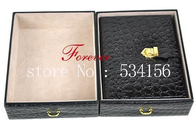 Darmowa wysyłka luksusowe skórzane pudełko z biżuterią, kolczyki naszyjnik wisiorek organizer biżuterii pojemnik na biżuterię pudełeczko prezentowe