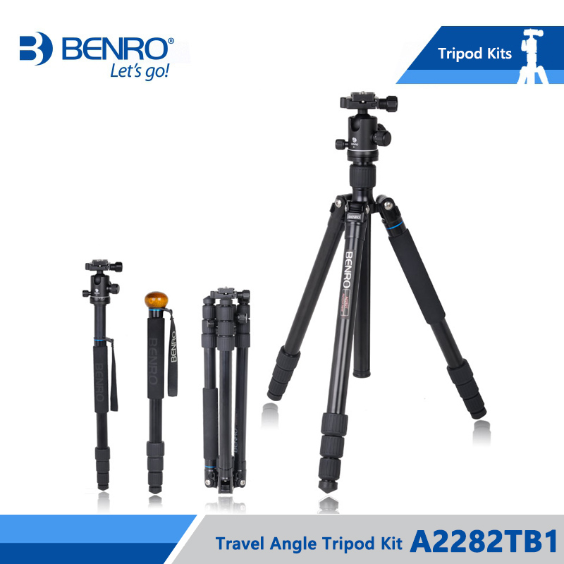 Benro A2282TB1 Professional Tripod Ball Head Set Aluminum Bracket Photography Holders Stable Tripod For Canon Nikon Sony DSLR sirui new r2004 g20kx tripod head photography set aluminum professional tripod for canon nikon sony slr portable stable bracket