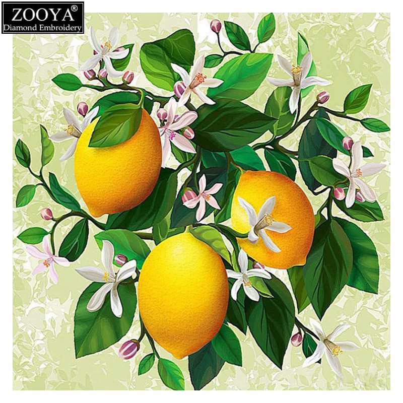 ZOOYA 5D DIY Diamond embroidery orange tree diamond painting Cross Stitch full square Rhinestone mosaic home decoration