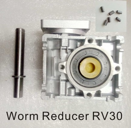 5:1 to 80:1 Worm Reducer RV030 Worm Gearbox Speed Reducer With Shaft Sleeve Adaptor for 6.35mm Input Shaft of Nema 23 Motor цена 2017