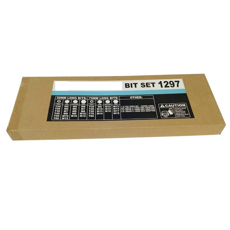 43 pcs Socket Set Kit di Strumenti di Riparazione Esagonale Torx Punto 12 Spline Cacciavite bit Set Automobili Strumento di Kit Per Auto - 6