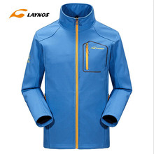 Free Shipping-2016 New Laynos MEN Spring/Autumn/Winter Outdoor Sport Waterproof Breathable Windproof Soft Fleece Jackets161F368A(China)