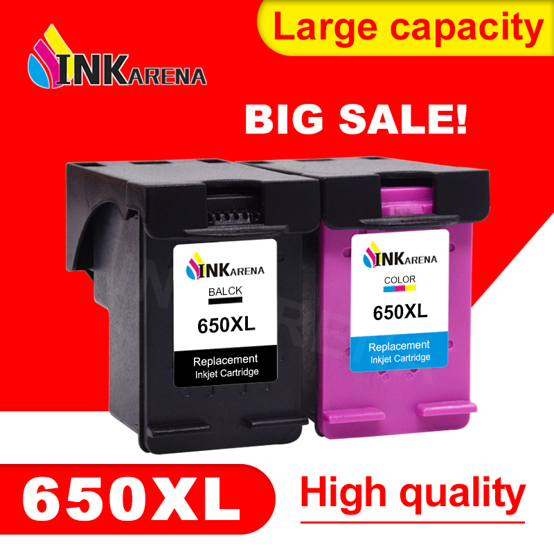 INKARENA Remanufactured Ink Cartridge Replacement For <font><b>HP</b></font> 650 XL Deskjet 1015 1515 2515 2545 2645 <font><b>3515</b></font> 4645 Printer Cartridge image