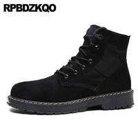 Men Retro Combat Boots Cheap Black Brown Military Canvas Shoes Army Ankle Desert Booties Fall Tactical High Top Suede Lace Up